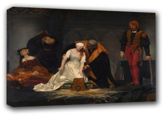 Delaroche, Paul (Hippolyte): The Execution of Lady Jane Grey. Fine Art Canvas. Sizes: A3/A2/A1 (00598)